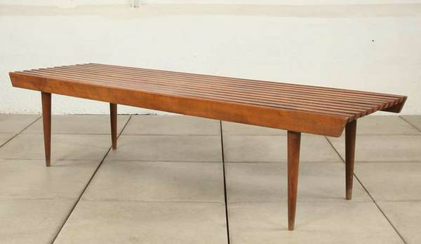 Mid Century Slat Bench Coffee Table     $160     View on Craigslist