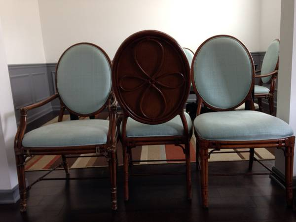Ethan Allen Bamboo Dining Chairs $650 This chairs retailed for $450 each. I would paint the bamboo portion white. View on Craigslist