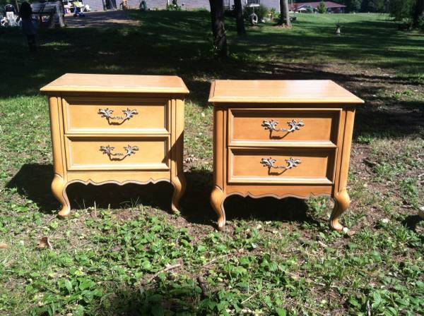 Pair of Nightstands     $40   These would look great painted!    View on Craigslist