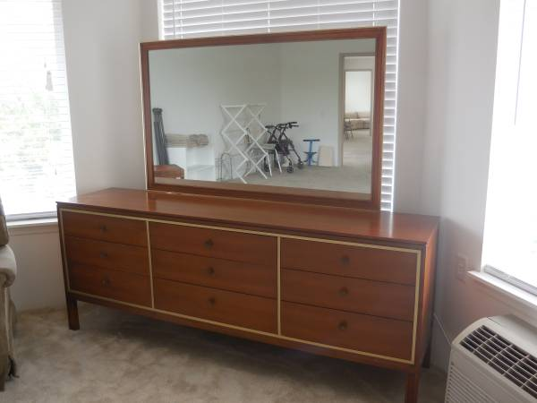 Bedroom Furniture Set $175 This set includes the 9 drawer dresser with mirror, a 5 drawer dresser and 2 nightstands. This is a really good price for the set. View on Craigslist