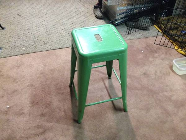 Green Metal Stools     $20 each   There are 4 available.    View on Craigslist