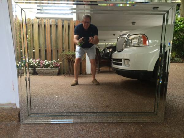 Mirror with Bevelled Frame $65 View on Craigslist