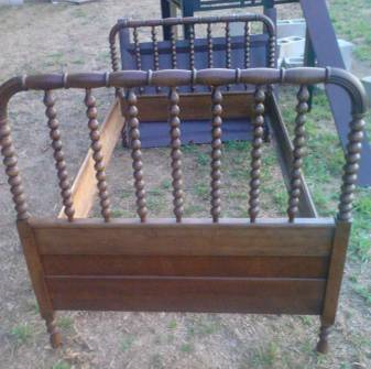Twin Bed $115 This is very similar to a Jenny Lind bed and would also look great painted.  View on Craigslist