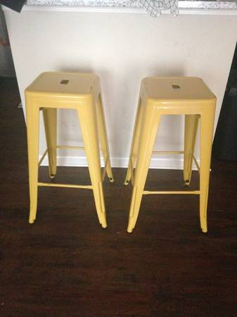 Yellow Barstools $45 View on Craigslist