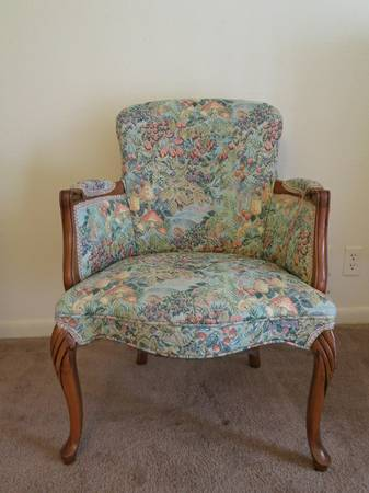 Vintage Accent Chair $15 This would be a great project chair if you wanted to try your hand at reupholstering. View on Craigslist