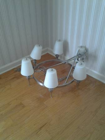 6 Light Chandelier $50 View on Craigslist