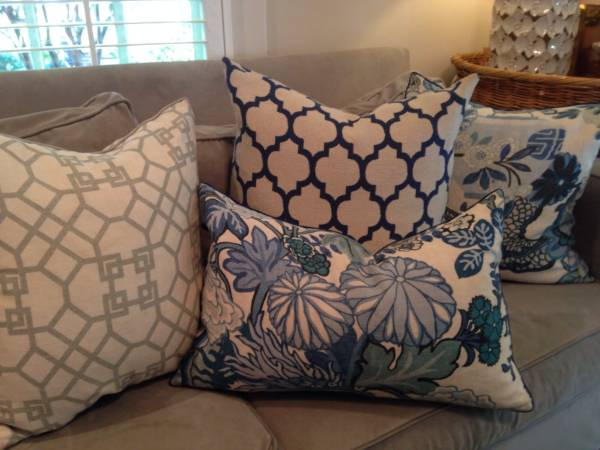 Custom Designer Pillows     $150   This seller is redecorating and getting rid of 6 pillows all made with designer home fabrics.     View on Craigslist
