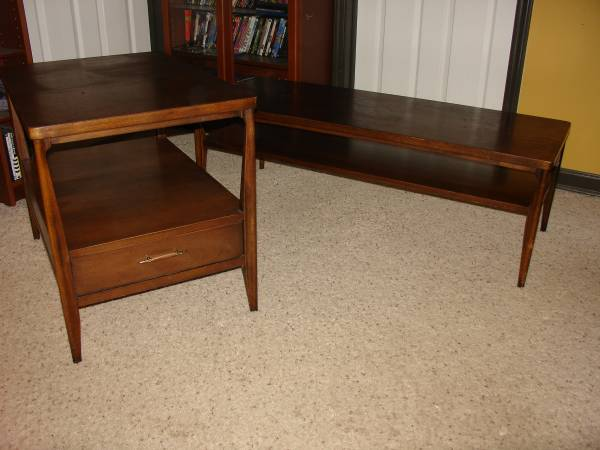 Mid Century Coffee and End Tables $125 View on Craigslist