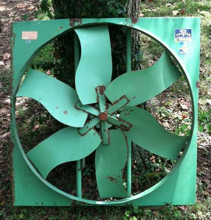 Industrial Metal Fan $125 This would look great hanging on the wall. View on Craigslist