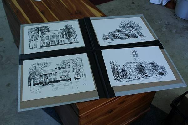 Set of 4 Nashville Landmark Drawings     $20     View on Craigslist