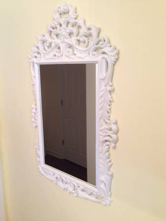 White Ornate Mirror $30 View on Craigslist