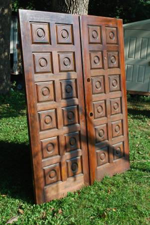 Pair of Doors $500 I think the price on these is a little high so you might be able to get them down a bit on the price. I really like the doors them and they could be used as is or painted for a more modern look. View on Craigslist