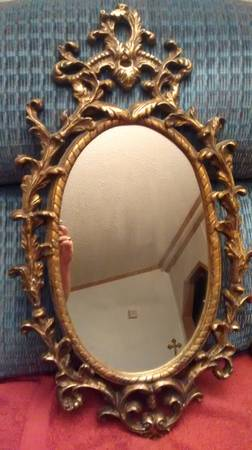 Ornate Gold Mirror $30 View on Craigslist