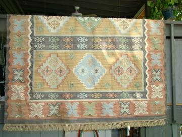 Set of Pottery Barn Kilim Rugs $500 This is for 2 wool rugs, one is 8' x 10' and the other is 6' x 6'. View on Craigslist