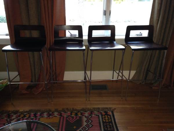 Set of 4 CB2 Bar Stools     $160     View on Craigslist