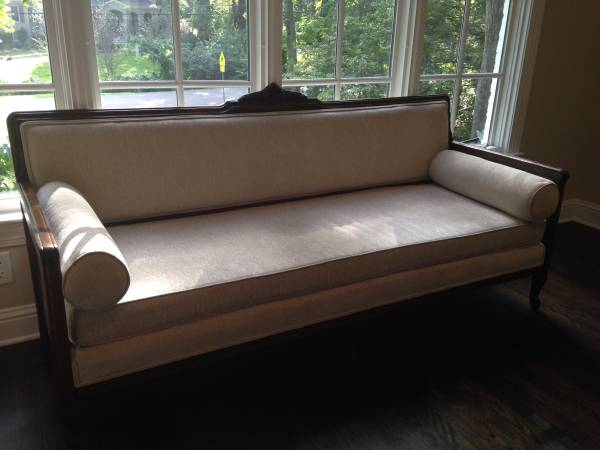 Antique Sofa $350 I love this antique sofa and the best part it has been recently reupholstered. View on Craigslist
