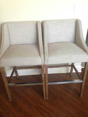 Pair of Custom Bar Stools $300 These retailed for $800 and are less than 6 months old. View on Craigslist