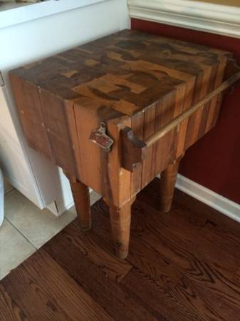Antique Butcher Block $200 See on Pinterest  View on Craigslist
