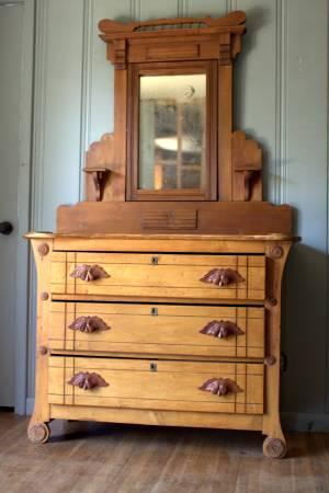 Antique Dresser with Mirror     $225     View on Craigslist