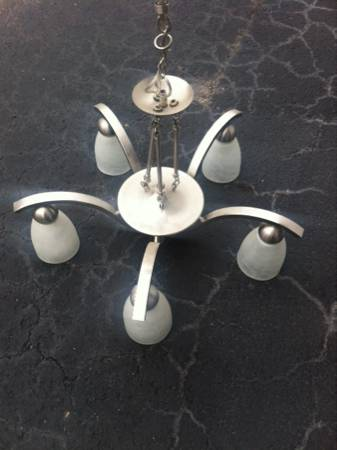 Brushed Nickel Light Fixture     $15     View on Craigslist