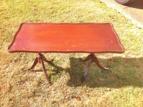 Vintage Coffee Table $35 This coffee table would be an easy project, it just needs a coat of paint. View on Craigslist