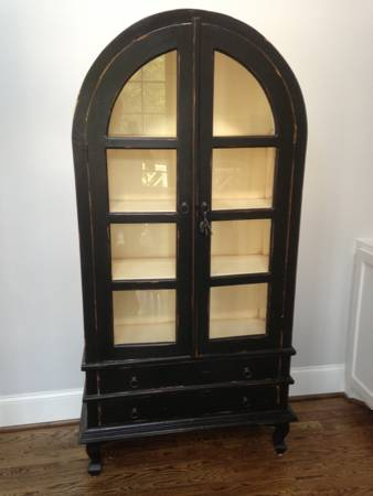 Black China Cabinet/Bookshelf $300 View on Craigslist