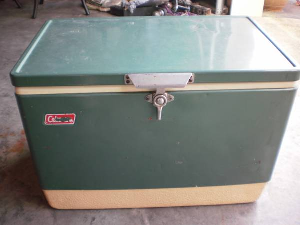 Vintage Coleman Cooler     $55   Think outside the box on this one, this vintage cooler could make a fun accent table or coffee table.    View on Craigslist