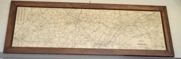 Framed TN Highway Map     $100     View on Craigslist