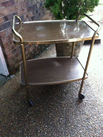 Vintage Tea Cart     $29   Would make a great bar cart or side table.    View on Craigslist