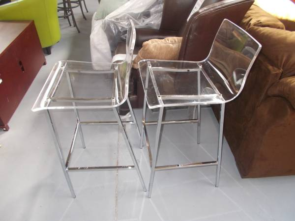 Pair of Acrylic Barstools     $50   These would be the perfect modern touch to your kitchen and at $50 they are a good deal. A very similar pair was featured on the cover of this month's House Beautiful.    See on Pinterest      View on Craigslist