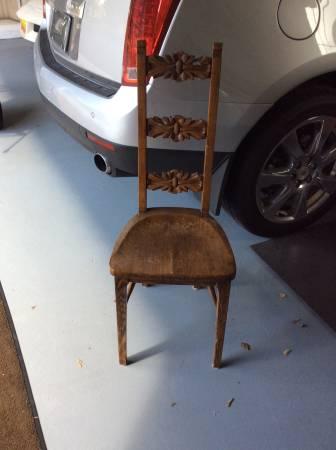 Antique Oak Chair $40 View on Craigslist