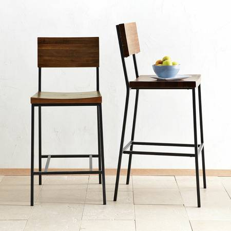 Pair of West Elm Barstools     $250     View on Craigslist