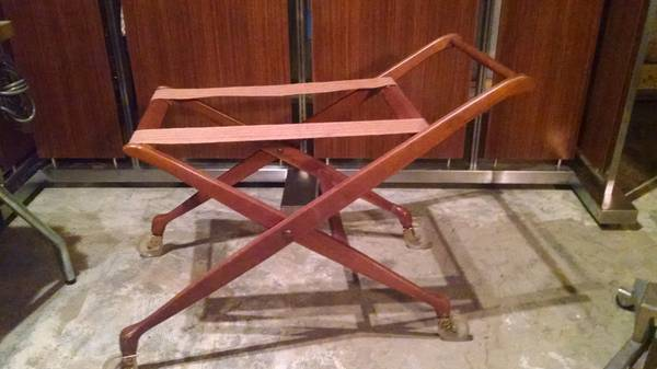 Danish Modern Cart     $100   Turn this piece into a tea cart or bar cart by putting a tray on top or use as a luggage cart.     View on Craigslist