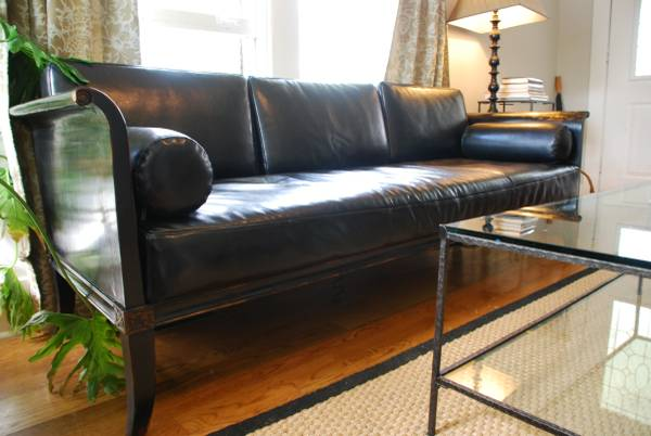 Four Hands Leather Sofa     $600   This seller is also selling a matching love seat.     View on Craigslist