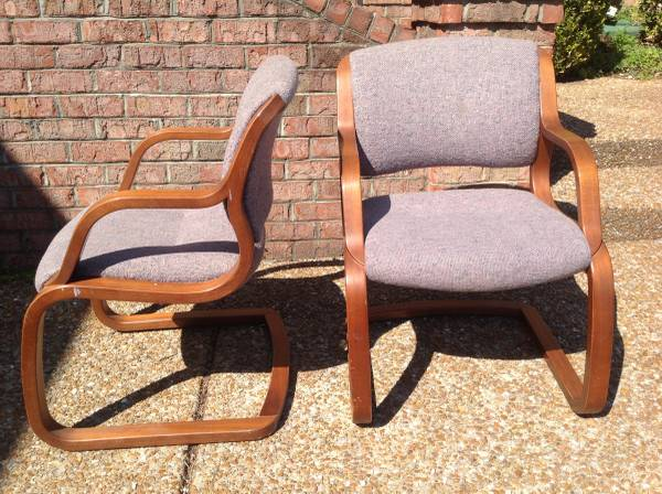Mid Century Chairs     $85   I love the lines of these chairs, they need some new fabric.     View on Craigslist