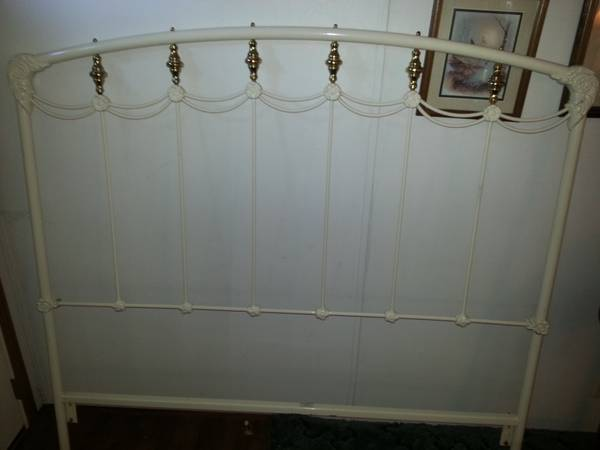 Brass and Iron Queen Headboard $85 View on Craigslist
