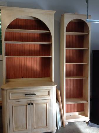 Custom Bookshelf and Cabinet $250 View on Craigslist