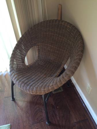 Modern Wicker Chair $20 View on Craigslist