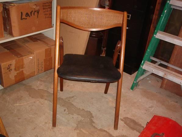 4 Mid Century Folding Chairs $100 View on Craigslist