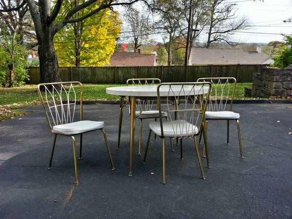 Retro Table and Chairs     $175   This table and chairs has a lot of character and would look great in a modern kitchen.     View on Craigslist