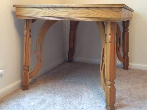 Oak Dining Table $100 I really like the details on this table and it also extends. Seller is very motivated to sell so you might be able to get a really good deal. View on Craigslist