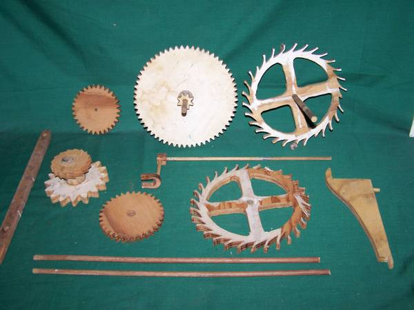 Vintage Wooden Gears $20 This set would look great hanging on the wall. View on Craigslist