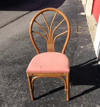 Pair of Rattan Chairs     $50   These chairs need the seat recovered but other than that you could use as is or painted.     View on Craigslist