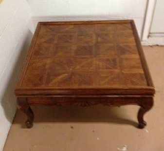 Square Coffee Table $50 This would be the perfect piece to use if you wanted to make your own upholstered ottoman. See on Pinterest View on Craigslist