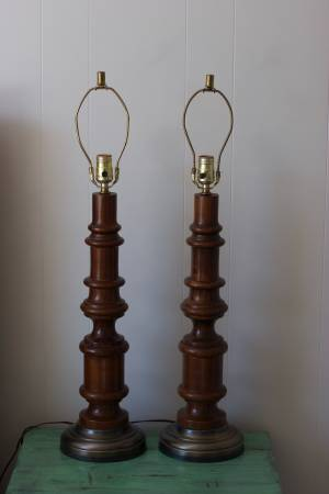 Pair of Vintage Wood Lamps    $50    View on Craigslist