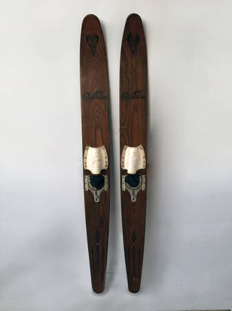 Vintage Water Skis      $60   These would look really nice hanging on the wall.    View on Craigslist