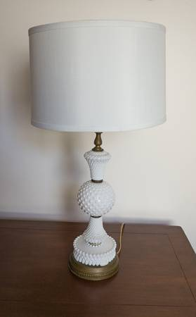Vintage Milk Glass Lamp $30 View on Craigslist
