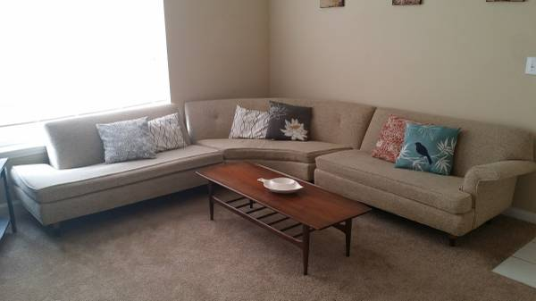 Mid Century Modern Sectional     $500     View on Craigslist