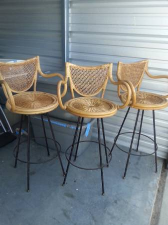 Rattan Barstools $150 View on Craigslist