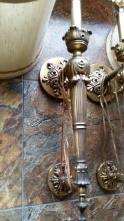 Pair of Brass Wall Lamps $40 View on Craigslist